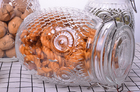 Owl Shape Tea Glass Jar Container / Glass Storage Jar With Silicon On Lid