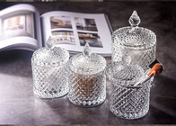 Super Glass Gift Jar For Wedding / Clear Glass Candy Jar With Lids , Long Life